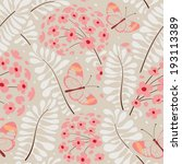 seamless floral pattern.... | Shutterstock .eps vector #193113389