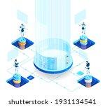 isometric 3d business concept... | Shutterstock .eps vector #1931134541