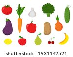 fruits and vegetables  ...   Shutterstock .eps vector #1931142521