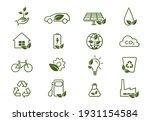 eco line icon set. environment  ... | Shutterstock .eps vector #1931154584