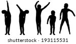vector silhouette of a boy on a ... | Shutterstock .eps vector #193115531