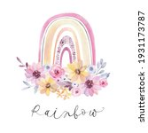 watercolor stylish rainbow. a...   Shutterstock . vector #1931173787