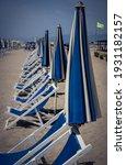 Sandy Beach With Empty Blue...