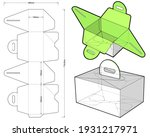 folding box with handle ... | Shutterstock .eps vector #1931217971