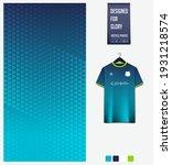 soccer jersey pattern design.... | Shutterstock .eps vector #1931218574