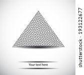 black and white vector triangle ... | Shutterstock .eps vector #193122677