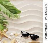 Summer Background. Sunglasses...