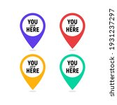 you are here sign icon mark.... | Shutterstock .eps vector #1931237297