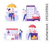 insurance set vector. people... | Shutterstock .eps vector #1931245061