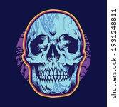 psychedelic head skull bones... | Shutterstock .eps vector #1931248811