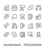 communication speech bubble... | Shutterstock .eps vector #1931262404