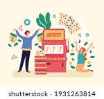 casino winners people...   Shutterstock .eps vector #1931263814