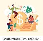 economy management earnings...   Shutterstock .eps vector #1931264264