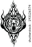 tattoo grizzly | Shutterstock .eps vector #193126574