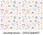 a pattern in which cute and... | Shutterstock .eps vector #1931268407