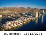 Aerial View Of Laughlin  Nevada ...