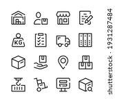 warehouse icons. vector line... | Shutterstock .eps vector #1931287484