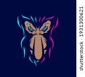 Proboscis Monkey Line Pop Art...
