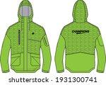 long sleeve anorak hoodie... | Shutterstock .eps vector #1931300741