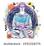 buddha. symbol of harmony ... | Shutterstock .eps vector #1931318174