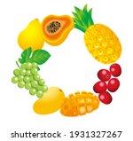 Illustration Of A Fruit Frame....