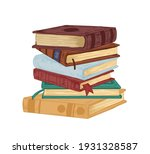 vertical stack of old...   Shutterstock .eps vector #1931328587