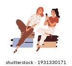 couple of tourists with luggage ... | Shutterstock .eps vector #1931330171