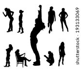 vector silhouette of people on... | Shutterstock .eps vector #193133069