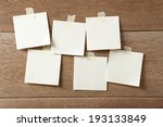 note paper group on wood... | Shutterstock . vector #193133849