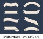 retro ribbon big set isolated... | Shutterstock .eps vector #1931342471