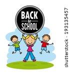 school design over white... | Shutterstock .eps vector #193135457