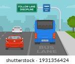 driving car. back view of sedan ... | Shutterstock .eps vector #1931356424