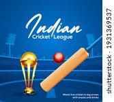 cricket championship league...   Shutterstock .eps vector #1931369537