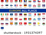 europe all flags vector  ... | Shutterstock .eps vector #1931374397