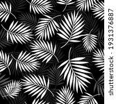 Tropical Palm Leaf Seamless...
