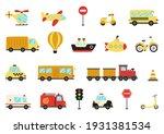set of vector transportation... | Shutterstock .eps vector #1931381534