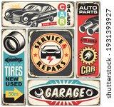 car service and repair retro... | Shutterstock .eps vector #1931393927