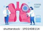 covid 19 test in laboratory....   Shutterstock .eps vector #1931408114