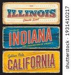 american states illinois ... | Shutterstock .eps vector #1931410217