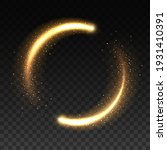 gold light circle with sparkles ... | Shutterstock .eps vector #1931410391