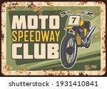 speedway racing motorcycle club ... | Shutterstock .eps vector #1931410841