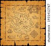 pirate treasure island ancient... | Shutterstock .eps vector #1931412767