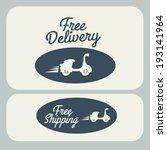 delivery design over gray... | Shutterstock .eps vector #193141964