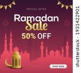 ramadan sale banner discount... | Shutterstock .eps vector #1931422901