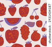 Red Fruit Seamless Pattern....