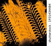offroad grunge tyre prints ... | Shutterstock .eps vector #1931434484