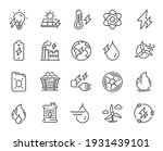energy types line icons. coal... | Shutterstock .eps vector #1931439101