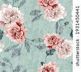 pink and grey vector flowers... | Shutterstock .eps vector #1931450441
