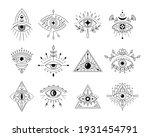 vector collection line art... | Shutterstock .eps vector #1931454791