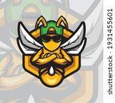 bee logo mascot design sport... | Shutterstock .eps vector #1931455601